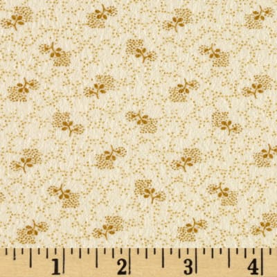Reproduction Flannel Small Floral Cream