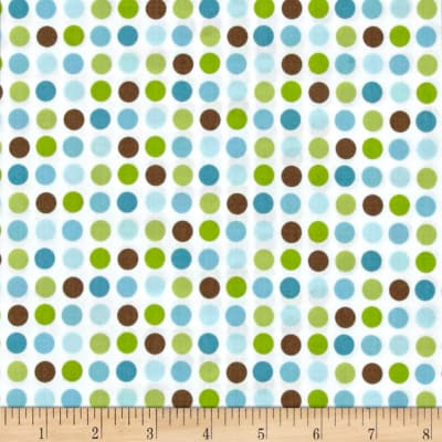 Giggle & Grow Dots Green Brown Blue