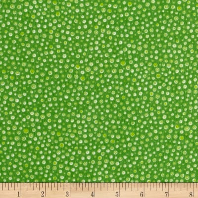 Novelty Niche Flannel Dots Green