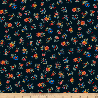 Shelburne Falls Maple Floral Navy