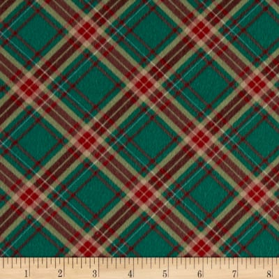 Chalk it up to Winter Flannel Plaid Green Red