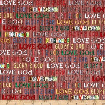 Glory Love God Text Brown
