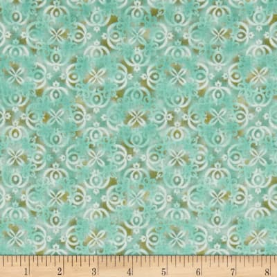 Arabesque Tonal Scroll Light Teal
