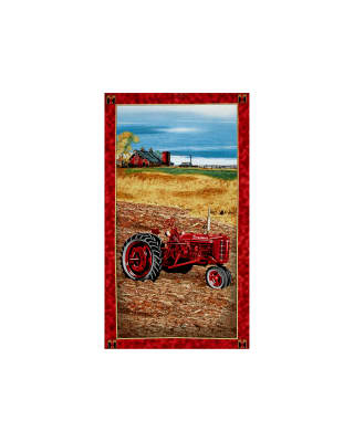 "On The Farm Tractor 24"" Panel Multi"