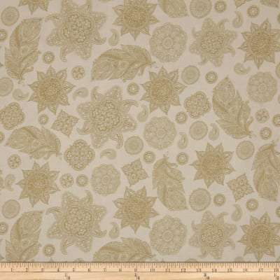 A Tail Of Two Kitties Henna Motifs Tossed Cream