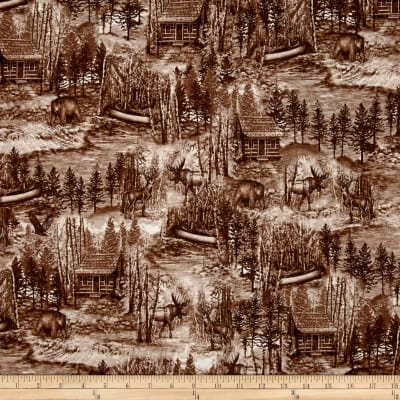 Into The Woods Scenic Toile Brown