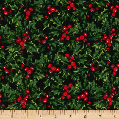 Penny Rose Joyous Christmas Holly Black