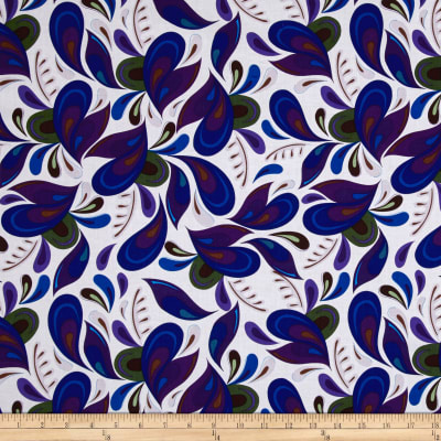Royal Retro Large Abstract White Multi