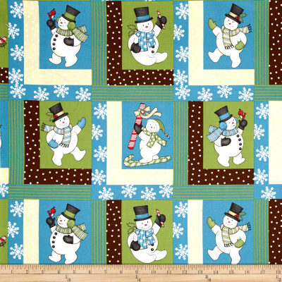 Sweetie Pie Snowmen Patchwork Multi