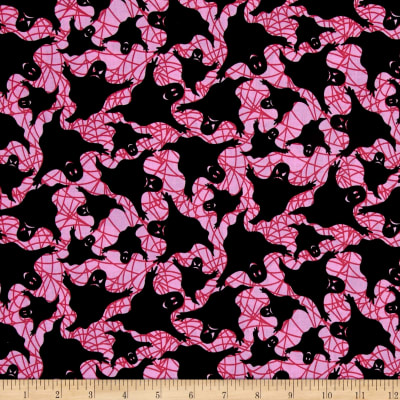 Spooktacular Halloween Ghosts Pink Black