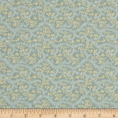 Reproduction Calico Vine Teal
