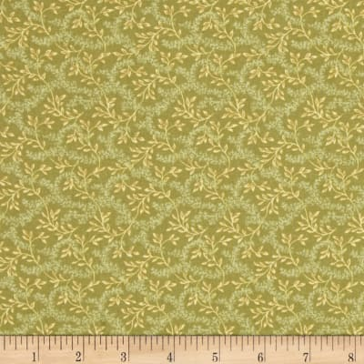 Reproduction Calico Vine Green