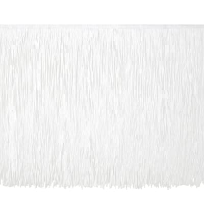 "12"" Chainette Fringe Trim White"