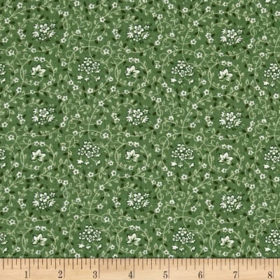 Calico Floral Swirl Green