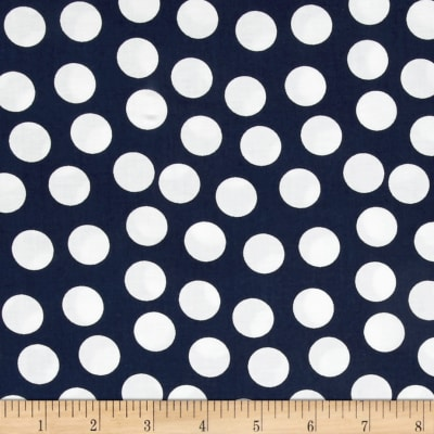 Mardi Gras Large Dot Navy White