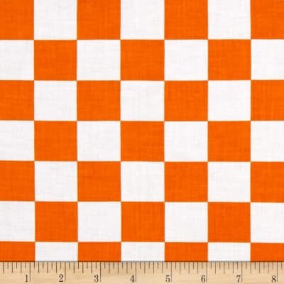 Mardi Gras Checkerboard White Orange