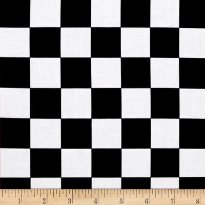 Mardi Gras Checkerboard Black White