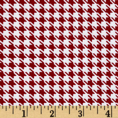Mardi Gras Small Houndstooth Red