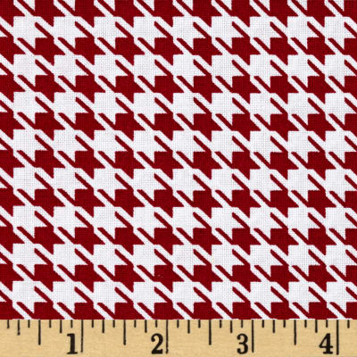 Mardi Gras Large Houndstooth Red