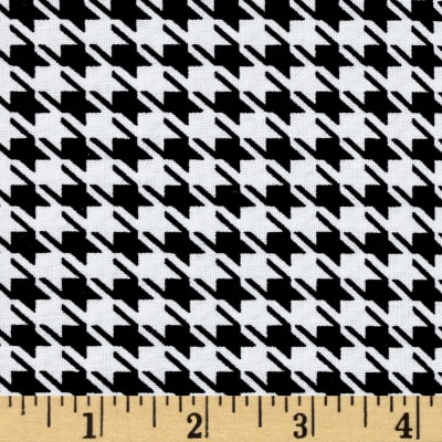 Mardi Gras Large Houndstooth Black