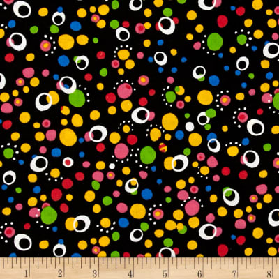 Scattered Dots Black Brite