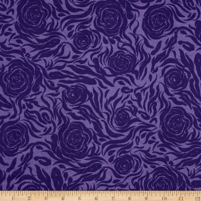 Abstract Rose Purple