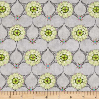 Song Birds Medallions Grey