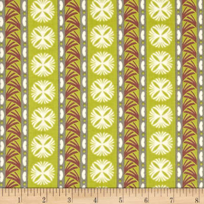 Fontaine Medallion Stripe Green/Multi