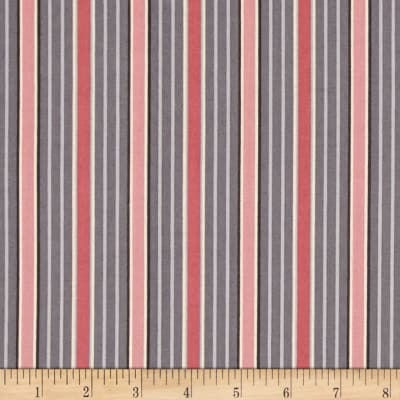 Dramatic Effects Stripe Pink Grey