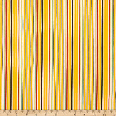 Aunt Grace Ties One On Stripe Yellow/Multi