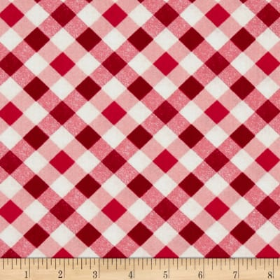 Kanvas Apple Blossom Festival Picnic Plaid Red