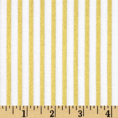 Riley Blake Wonderland Sparkle Stripe Gold