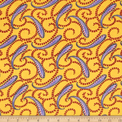Medallion Muse Paisley Purple/Yellow/Red