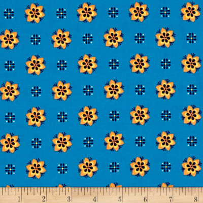 El Camino Real Daisies Blue/Orange