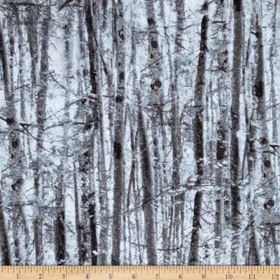 Kanvas Into the Woods Forest Trees Blue/Gray