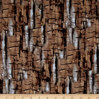 Kanvas Into the Woods Flannel Bark Taupe