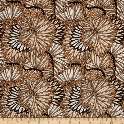Elemental Lines Dandelion Flowers Brown/Tan