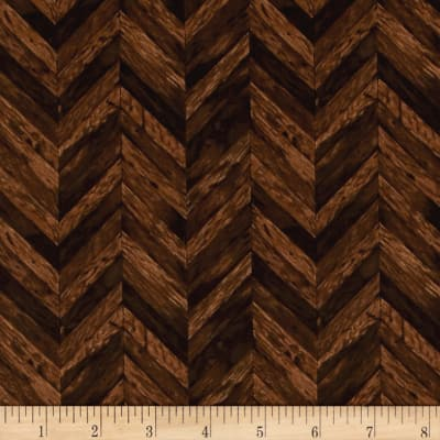 Rustic Refined Chevron Wood Grain Chestnut