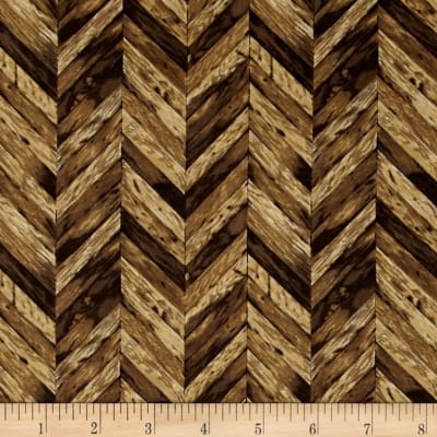 Rustic Refined Chevron Wood Grain Teak