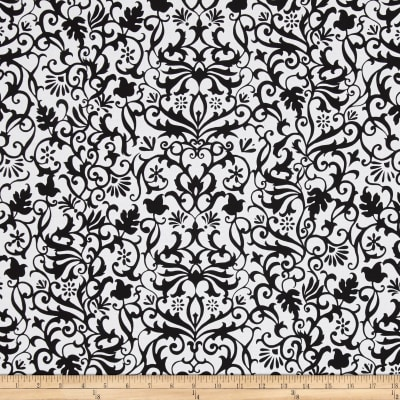 Near and Deer Damask Black