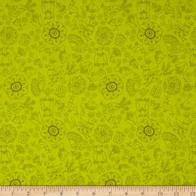 Riley Blake Dutch Treat Floral Green