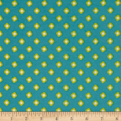 Riley Blake Acorn Valley Flannel Bloom Dot Teal