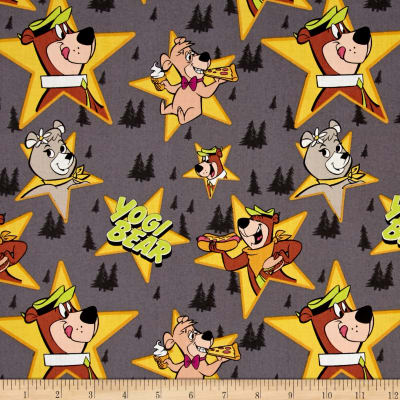 Yogi Bear Characters in Stars Iron