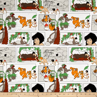 Disney Jungle Book Main Character Blocks White