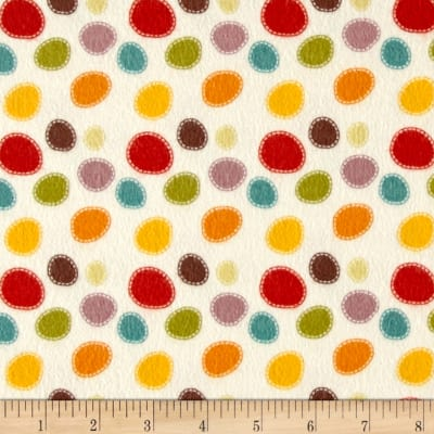 Riley Blake Giraffe Crossing 2 Flannel Dots Multi