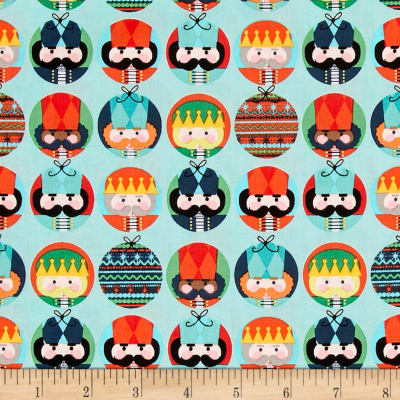 Riley Blake Nutcracker Christmas Dots Aqua