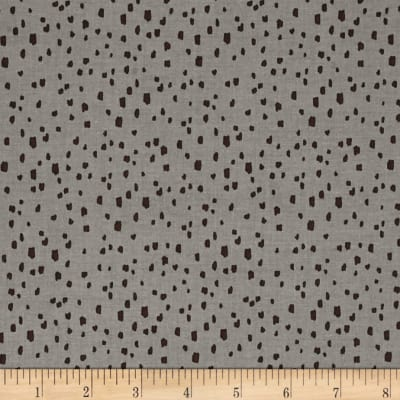 Riley Blake Knock on Wood Dot Dark Gray
