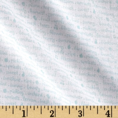 Riley Blake Sweet Orchard Text White/Aqua