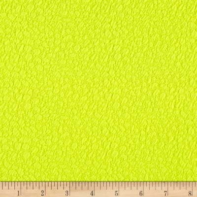 Double Knit Jacquard Neon Yellow