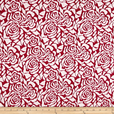 Jacquard Knit Rose Red